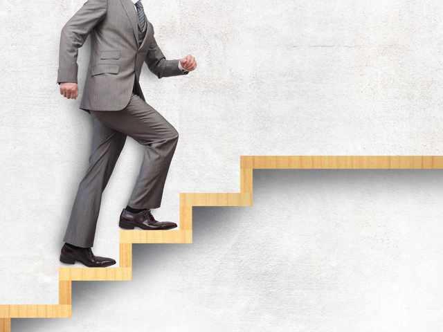 ビジネスマンのステップアップ