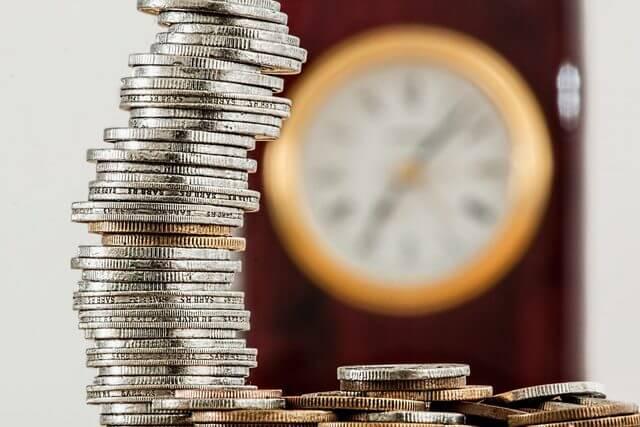 時計と小銭